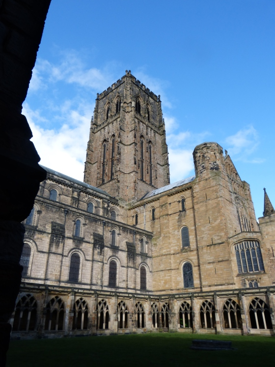 Durham Cathedral viewed from the cloisters