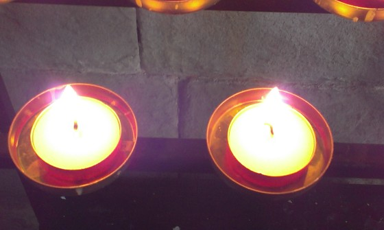 Candles for Little Sun and baby May